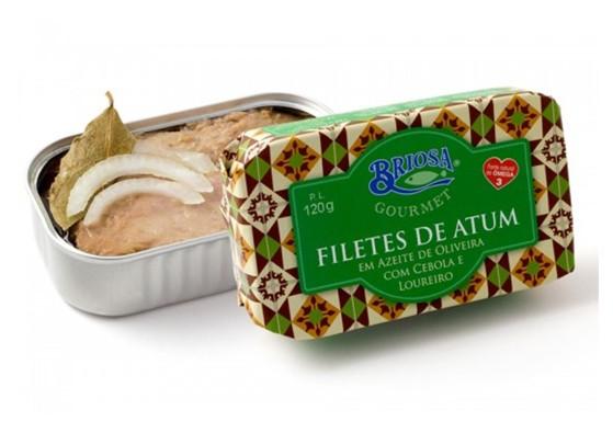 Conserves de filets de thon aux oignon laurier – Briosa – Conserverie Portugal Norte – Conserves de sardines du Portugal