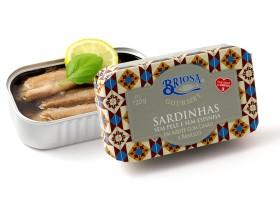 Conserves de sardines sans peau et sans arêtes au citron basilic - Briosa - Conserverie Portugal Norte - Conserves de sardines du Portugal