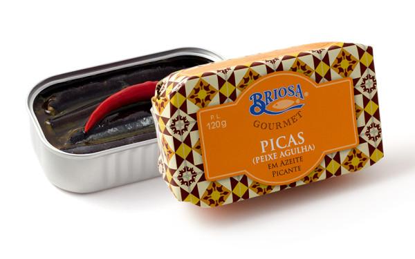 Conserves d'orphies – Briosa – Conserverie Portugal Norte – Conserves de sardines du Portugal