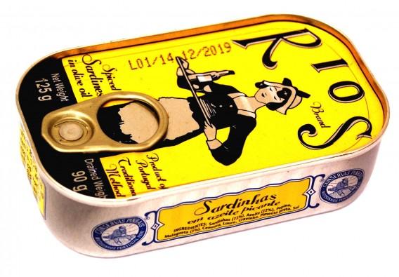 Sardines à l'huile d'olive épicée Rios Pinhais
