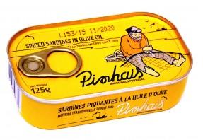 Sardines à l'huile d'olive épicée Pinhais