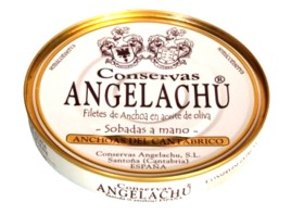 Filets d'anchois confits boite ronde - Angelachu - Conserves de filets d'anchois de Santoña - Cantabrie