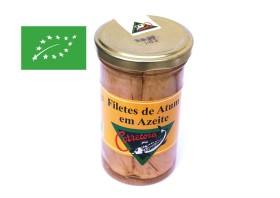 Filets de thon bonito à l'huile d'olive bio - Corretora - Conserves de thon des Açores