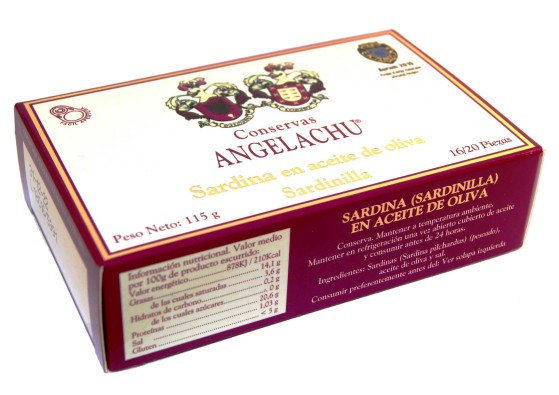 Petites sardines –  Angelachu – Conserves de filets d'anchois et de sardines de Santoña – Cantabrie