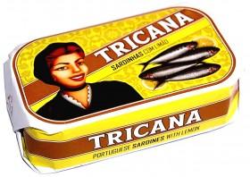 Sardines au citron et à l'huile d'olive Tricana