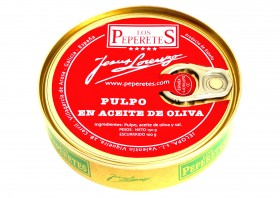 Poulpe à l'huile d'olive Los Peperetes
