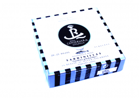 Petites sardines à l'huile d'olive piquante 20-25 Real Conservera Espanola