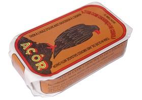 Filets de thon à l'huile d'olive au chorizo et à l'oignon - Açor - Conserves de thon du Portugal