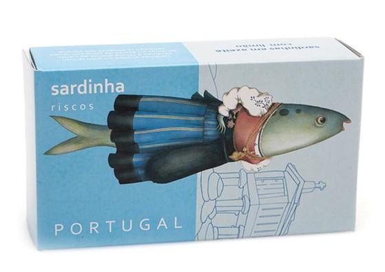 Sardines au citron et à l'huile d'olive – Conserves Riscos – Conserves de poissons du Portugal